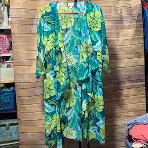 LuLaRoe tropical palm print Shirley